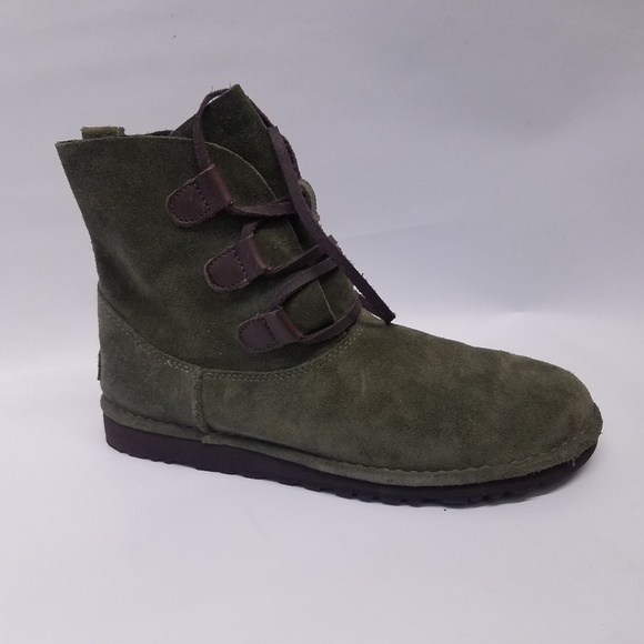 836a5f85e99 Ugg Dark Green Brown Ankle Boots Elvi